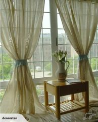 A PAIR 1.8M*1.8M French Country Crochet Curtains 3610501