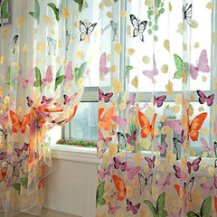 150*145cm Butterfly Voile Curtain Room Divider 3610591