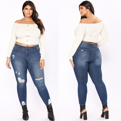 Distressed Denim Jeans F0800