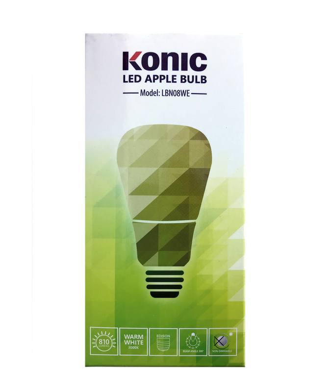 8W LED Bulb Warm White*F LBN08WE