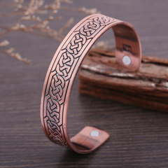 Copper Viking Cuff Bracelet Celtic Knot Magnetic Healthcare B0305RD0