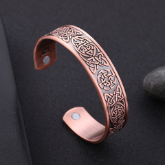 Copper Viking Cuff Bracelet Celtic Knot Magnetic Healthcare B0304RD0