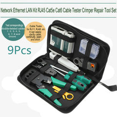 Network Ethernet LAN Kit Cable Tester Crimper Plier Tool 3617203