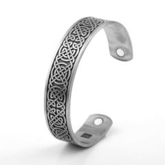 Viking Cuff Bracelet Celtic Knot Magnetic Healthcare B0301SV0