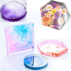 Coaster Resin Casting Mold Silicone Jewelry Mould Tool I0683WT0