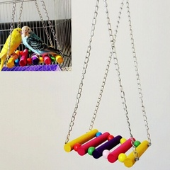 Wooden Bird Toy Parrot Cage Climbing Swing Toys I0614MZ0