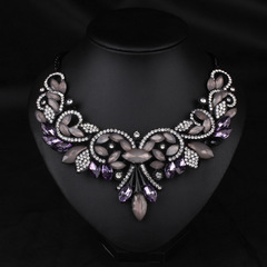 Gorgeous Party Purple Clear Rhinestone Crystal Necklace 1622570
