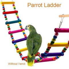 Wooden Bird Toy Parrot Cage Climbing Ladder Toys I0613MZ0