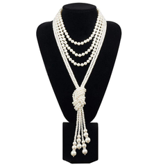 Great Gatsby Necklace Pearls Vintage Clothing Flapper Accessories  B0281WT0