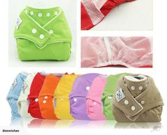 Reusable Nappies + 2 Inserts  3901901*3901901+2 Inserts