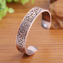 Copper Viking Cuff Bracelet Magnetic Healthcare B0302RD0