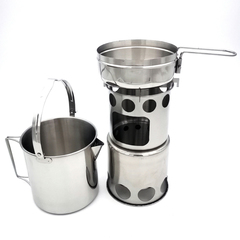 Camping Burner Cookers Stove Pot Combination 3636702