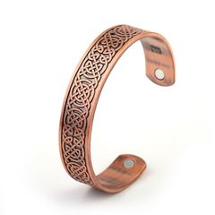 Copper Viking Cuff Bracelet Celtic Knot Magnetic Healthcare B0301RD0