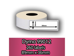 99012 Dymo Compatible Printing White Label 36x89mm