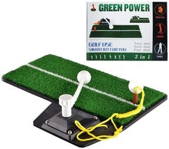 Golf Putting Trainer Practice Swing Training Mat Exerciser 2023112