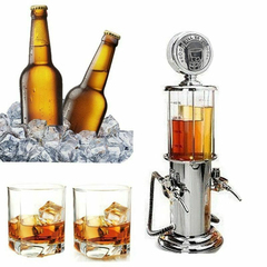 Gas Station Pump Dual Liquor Dispenser Beer Alcohol Beverage Bar Butler 2025102